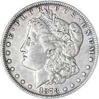 1878 MORGAN SILVER DOLLAR 7 TAIL FEATHERS R78  FINE VF CLEANED SEE PICS G019