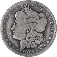 1878 MORGAN SILVER DOLLAR 7 TAIL FEATHERS REVERSE OF 78 GOOD GD