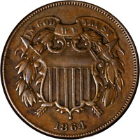 1864 TWO  2  CENT PIECE GREAT DEALS FROM THE EXECUTIVE COIN