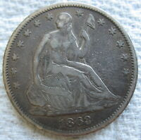 1863 S SEATED LIBERTY HALF DOLLAR  50 CENTS