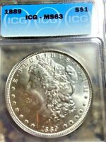 1889 P MORGAN SILVER DOLLAR MINT STATE 63 / FULL BREAST/ LUSTER
