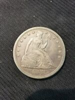 1859 S LIBERTY SEATED SILVER DOLLAR