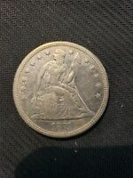 1871 SEATED LIBERTY SILVER DOLLAR