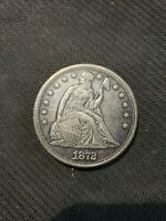 1872 LIBERTY SEATED SILVER DOLLAR