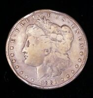 1881-O MORGAN SILVER DOLLAR VG IN SAFLIP CF17