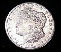 1921 P MORGAN SILVER DOLLAR EXTRA FINE  BRIGHT WITH LUSTER IN AIRTIGHT CAP CF35
