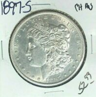 1897-S MORGAN SILVER DOLLAR  CH/AU  COIN