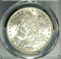1884-O MORGAN SILVER DOLLAR - PCGS MINT STATE 65  BEAUTIFUL COIN REF8483