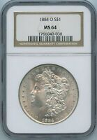 1884 O NGC MINT STATE 64 MORGAN SILVER DOLLAR $1 US MINT 1884-O NGC MINT STATE 64 PQ COIN