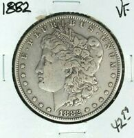 1882 MORGAN SILVER DOLLAR  VF  COIN