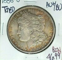 1885-O MORGAN SILVER DOLLAR  AU/BU BEAUTIFUL TONED COIN