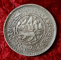 TIBET 3 SRANG 1930 1938 W SNOW LION SILVER COIN CHINA KM Y26