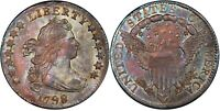 1798 DRAPED BUST DIME 10C PCGS MS 64  CAC LARGE 8 VARIETY OLD US SILVER COIN