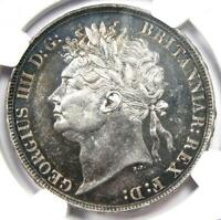 1822 GREAT BRITAIN ENGLAND GEORGE IV CROWN TERTIO COIN   CERTIFIED NGC AU53
