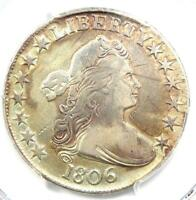 1806 DRAPED BUST HALF DOLLAR 50C COIN - CERTIFIED PCGS VF DETAILS