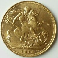 1918 S GREAT BRITAIN GOLD SOVEREIGN