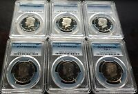 1977 78 79T1 80 81T1 82 S 50C PCGS PR69DCAM 6 COIN RUN PROOF