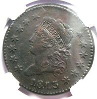 1813 CLASSIC LIBERTY HEAD LARGE CENT 1C - NGC AU DETAIL -   DATE COIN IN AU