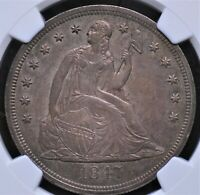 1847 SEATED LIBERTY DOLLAR NGC MINT STATE 61 LUSTROUS AND WELL STRUCK IN GLOSSY PEWTER
