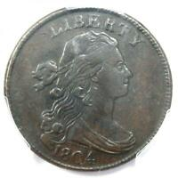1804 DRAPED BUST LARGE CENT 1C COIN - PCGS EXTRA FINE  DETAILS EF -  KEY DATE