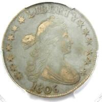 1806 DRAPED BUST HALF DOLLAR 50C COIN - CERTIFIED PCGS VF35 - $1,100 VALUE