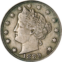 1889 LIBERTY V NICKEL GREAT DEALS FROM THE EXECUTIVE COIN COMPANY