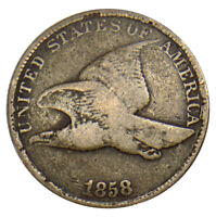 1858 LARGE LETTERS FLYING EAGLE UNCERTIFIED COIN