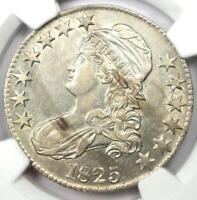 1825 CAPPED BUST HALF DOLLAR 50C - CERTIFIED NGC AU DETAILS -  COIN