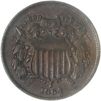 1864 TWO CENT COIN EXTRA FINE EXTRA FINE  SEE PICS G220