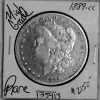 1889 CC MORGAN SILVER DOLLAR HIGH GRADE  U.S. COIN SHIPS FREE 125413