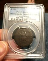1788 PCGS MASSACHUSETTS COLONIAL CENT G DETAIL A PIECE OF US COLONIAL HISTORY