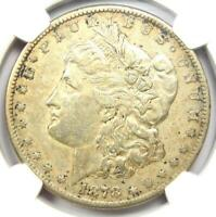 1878-CC MORGAN SILVER DOLLAR $1 CARSON CITY COIN - CERTIFIED NGC EXTRA FINE  DETAILS EF