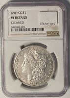 1889-CC MORGAN DOLLAR KEY DATE NGC VF DETAILS CLEANED  350,000 MINTED