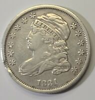 1831 CAPPED BUST SILVER DIME 10C.