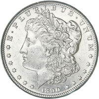 1890 S MORGAN SILVER DOLLAR AU SLIDER