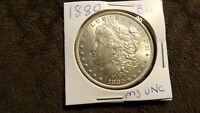 1880 MORGAN SILVER DOLLAR UNC MS BEAUTIFUL COIN B11
