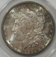 1882 - S $1 MORGAN SILVER DOLLAR ANACS MINT STATE 63 TONED   050442