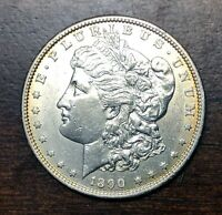 1890 S MORGAN SILVER DOLLAR, BU .900 SILVER- WOW