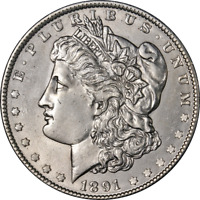 1891-P MORGAN SILVER DOLLAR GREAT DEALS FROM THE EXECUTIVE COIN COMPANY