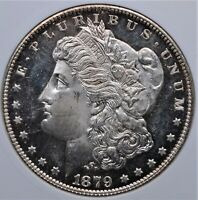 1879 S MORGAN DOLLAR SMALL WHITE ANACS MINT STATE 64 OBV PL LOOKS MUCH MUCH STRONGER
