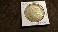 1890 S MORGAN SILVER DOLLAR MS UNC BEAUTIFUL COIN
