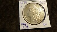 1879 S REV 78 MORGAN SILVER DOLLAR REV 1878 UNC MS B6