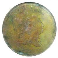 1797 LIBERTY CAP FLOWING HAIR HALF CENT 1/2C - NGC EXTRA FINE  DETAIL NCS -  COIN