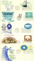 1970'S FDC FLEETWOOD STAMPED ENVELOPES X5
