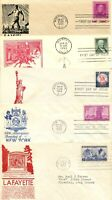1950'S FDC ANDERSON CACHETS X5
