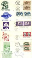 1960 62 FDC ANDERSON CACHETS PAIRS