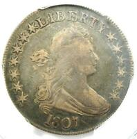 1807 DRAPED BUST HALF DOLLAR 50C COIN - CERTIFIED PCGS VF DETAILS