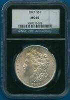 1897 P NGC MINT STATE 66 MORGAN SILVER DOLLAR $1 US MINT 1897-P NGC MINT STATE 66 PQ COIN