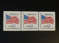 1994 US SC2890 32C OLD GLORY G RATE P A5427 STRIP OF 3 MNH.