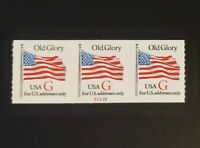 1994 US SC2892 32C OLD GLORY G RATE P S2222 STRIP OF 3 MNH F